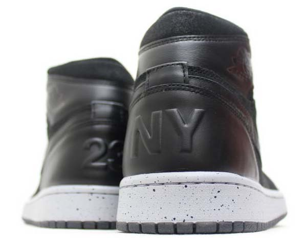 NIKE AIR JORDAN 1 RETRO HIGH NYC [BLACK / GYM RED-WOLF GREY] 715060-002