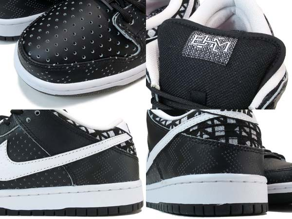 NIKE SB DUNK LOW PREMIUM BHM [BLACK / BLACK / WHITE] 745956-010