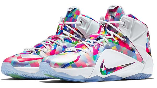 NIKE LEBRON 12 EXT [MULTI-COLOR / UNIVERSITY RED-WHITE] 748861-900