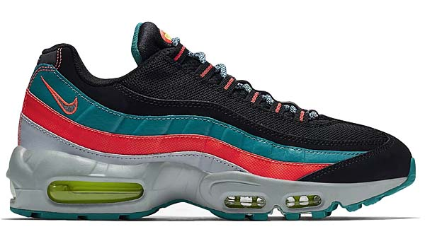 NIKE AIR MAX 95 ESSENTIAL [BLACK / WOLF GREY / RADIANT EMERALD] 749766-002