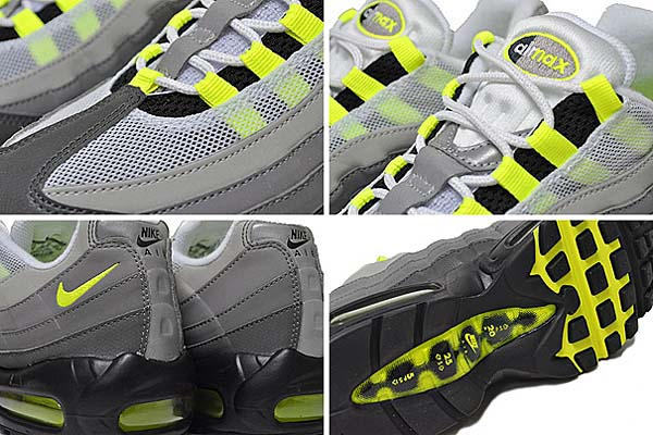NIKE AIR MAX 95 OG NEON YELLOW GRADATION REFLECTIVE [BLACK / VOLT-MEDIUM ASH-DARK PEWTER] 759986-070