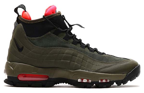 NIKE AIR MAX 95 SNEAKERBOOT [DRK LDN / BLK-CRG KHK-BRGHT CRMSN] 806809-300