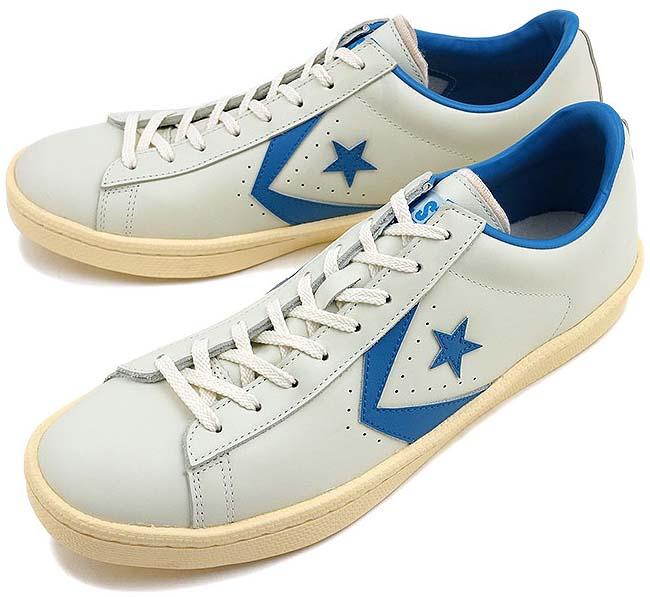 CONVERSE CHEVRON & STAR PRO-LEATHER OX 40th Anniversary [WHITE / LIGHT BLUE] 32649256