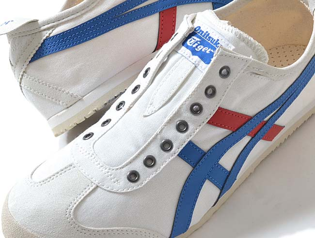 Onitsuka Tiger MEXICO 66 SLIP-ON CV [WHITE / BLUE / RED] th1b2n-0143