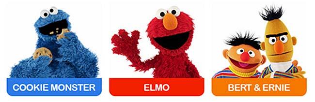 "PUMA BASKET SESAME ""ELMO"" ""COOKIE MONSTER"" ""ERNIE&BERT"" 361555"