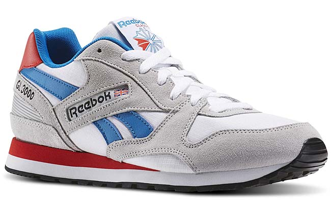 Reebok GL 3000 [SKULL GREY / WHITE / WHITE / INSTINCT BLUE] AR1508
