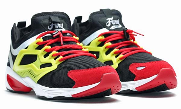 Reebok FURY ADAPT [BLACK / HYPER GREEN / RED RUSH / WHITE] AR1868