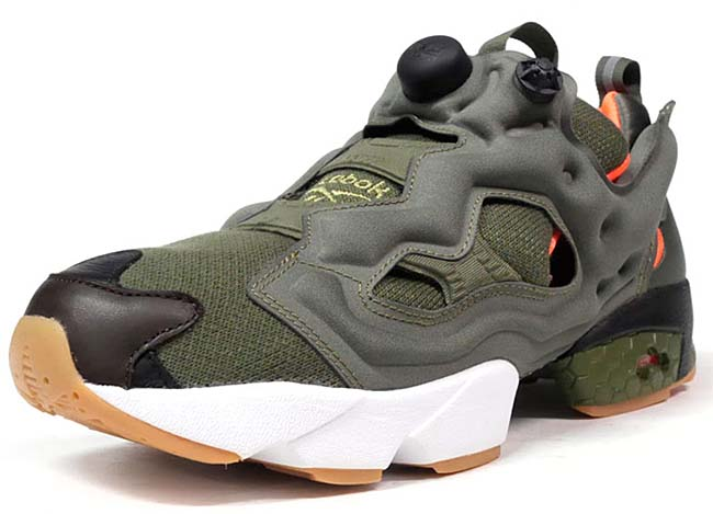 Reebok x Winiche & Co. x mita sneakers INSTA PUMP FURY OG FLIGHT JACKET [OLIVE / ORANGE / WHITE] AR3508