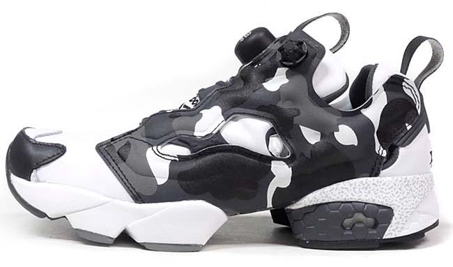 Reebok x A BATHING APE x mita sneakers INSTA PUMP FURY CITY CAMO [BLACK / GLAY / WHITE] BD1355