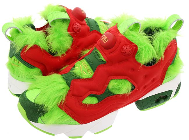 Reebok INSTA PUMP FURY CV GRINCH [GREEN / RED / WHITE] BD4758
