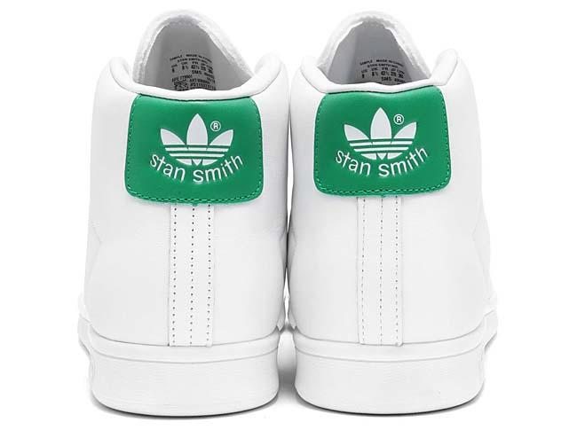 adidas Originals STAN SMITH MID [RUNNING WHITE / RUNNING WHITE / GREEN] BB0069