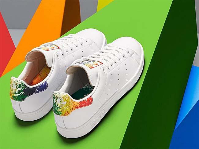 adidas Originals STAN SMITH LGBT PRIDE PACK [RUNNING WHITE FTW / RAINBOW] BB1686
