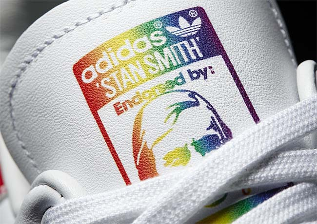 adidas Originals STAN SMITH LGBT PRIDE PACK [RUNNING WHITE FTW / RAINBOW] BB1686