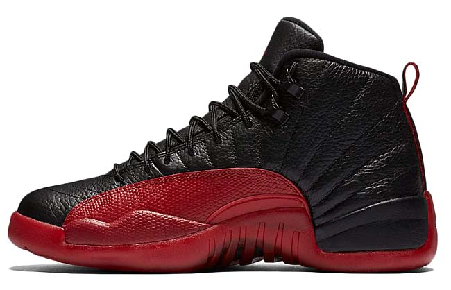 NIKE AIR JORDAN 12 RETRO [BLACK / VARSITY RED] 130690-002