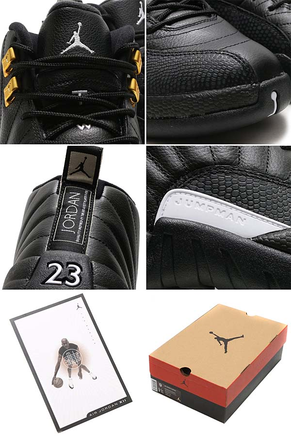 NIKE AIR JORDAN 12 RETRO [BLACK / WHITE-BLACK-METALLIC GOLD] 130690-013