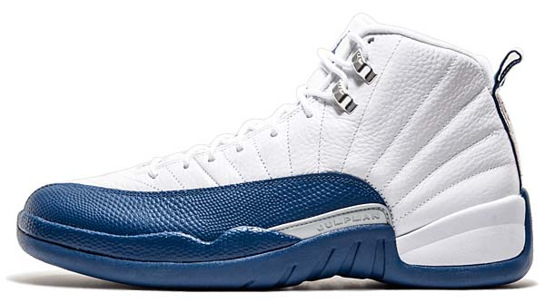 NIKE AIR JORDAN 12 RETRO [WHITE / FRENCH BLUE-METALLIC SILVER-VARSTIY RED] 130690-113