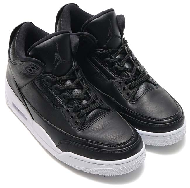 NIKE AIR JORDAN 3 RETRO [BLACK /BLACK-WHITE] 136064-020