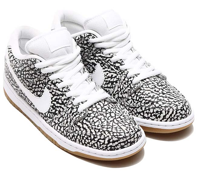 NIKE DUNK LOW PREMIUM SB CEMENT [WHITE / WHITE-BLACK-GUM LIGHT BROWN] 313170-110