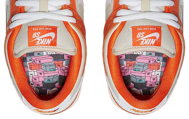 NIKE SB DUNK LOW PREMIUM ORANGE BOX [SAFETY ORANGE / CREAM / PURE PLATINUM / WHITE] 313170-811