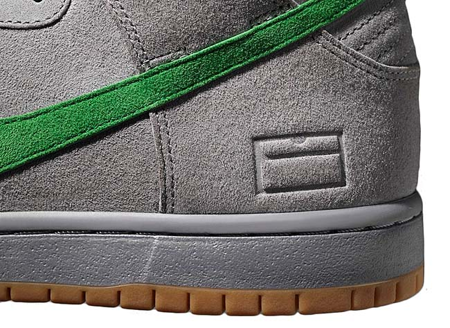 NIKE SB DUNK HIGH PREMIUM GREY BOX [Metallic Silver / Hyper Verde-Gum Yellow] 313171-039