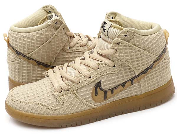 NIKE DUNK HIGH PREMIUM SB [FLT GOLD STAR / CLASSIC BROWN] 313171-722