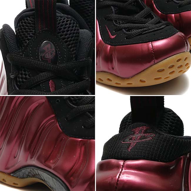 NIKE AIR FOAMPOSITE ONE [NIGHT MAROON / BLACK-GUM LIGHT BROWN-NIGHT MAROON] 314996-601