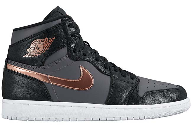 NIKE AIR JORDAN 1 RETRO HIGH [BLACK / MTLC RED BRONZE-DARK GREY-WHITE-INFRARED 23] 332550-016