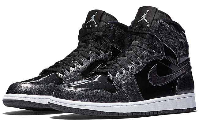 NIKE AIR JORDAN 1 HIGH PATENT [BLACK / BLACK-ANTHRACITE-WHITE] 332550-017