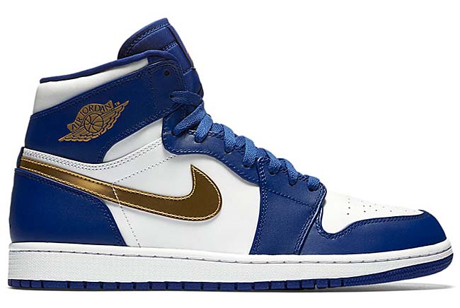NIKE AIR JORDAN 1 RETRO HIGH [DEEP ROYAL BLUE / METALLIC GOLD COIN-WHITE-INFRARED 23] 332550-406