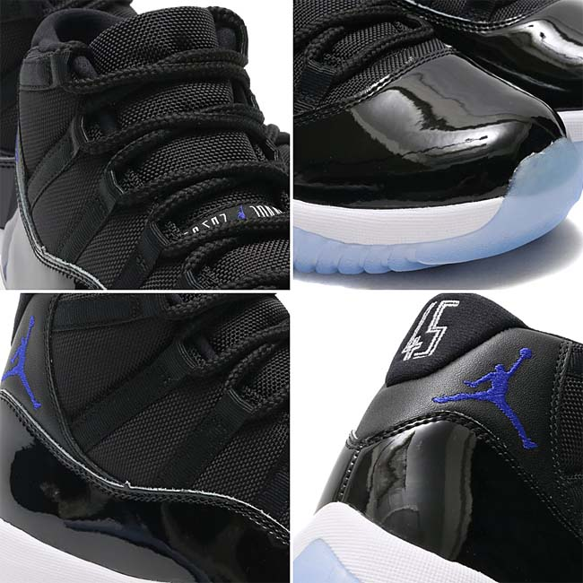 NIKE AIR JORDAN 11 RETRO MONSTAR MASH [BLACK / CONCORD-WHITE] 378037-003