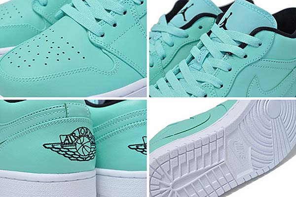 NIKE AIR JORDAN 1 LOW [HYPER TURQUOIS / BLACK-WHITE] 553558-304