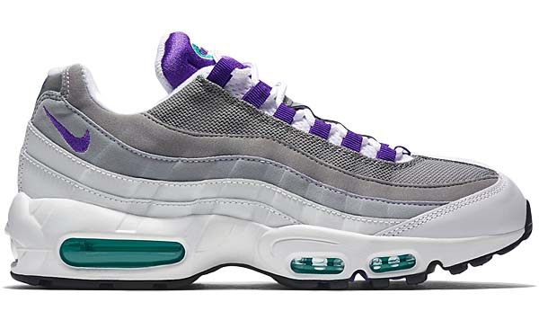 NIKE AIR MAX 95 OG [WHITE / PURPLE / EMERALD GREEN / GREY] 554970-151