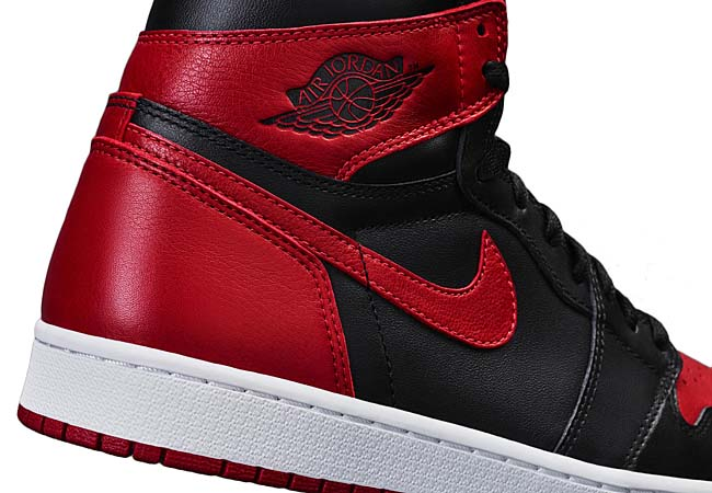 NIKE AIR JORDAN 1 RETRO HIGH OG BRED [BLACK / VARSITY RED-WHITE] 555088-001