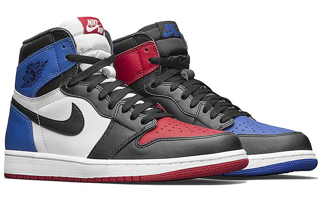 NIKE AIR JORDAN 1 RETRO HIGH OG TOP3 [BLACK / VARSITY RED / VARSITY ROYAL] 555088-026