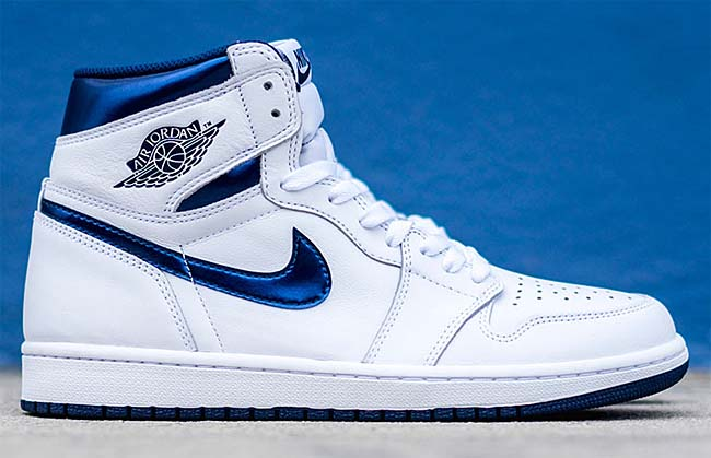 NIKE AIR JORDAN 1 RETRO HIGH OG METALLIC NAVY [WHITE / METALLIC NAVY] 555088-106