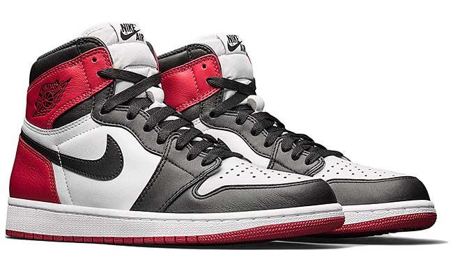 NIKE AIR JORDAN 1 RETRO HIGH OG BLACK TOE [WHITE / BLACK / VARSITY RED] 555088-125