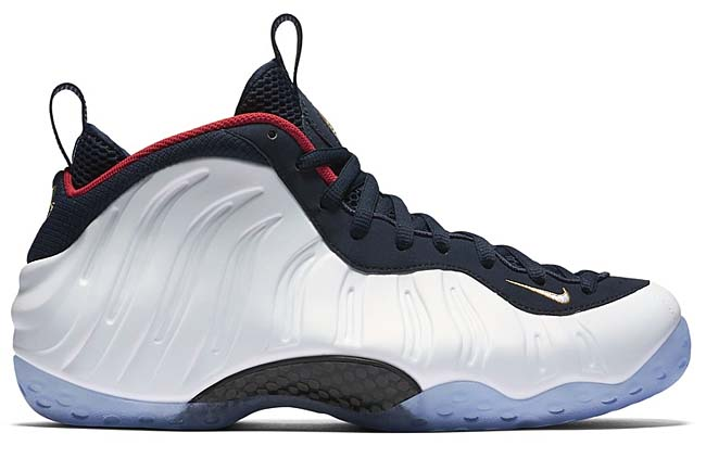 NIKE AIR FOAMPOSITE ONE OLYMPIC [OBSIDIAN / UNIVERSITY RED-METALLIC GOLD-WHITE] 575420-400