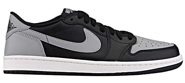 NIKE AIR JORDAN 1 RETRO LOW OG SHADOW [BLACK / MEDIUM GREY / SAIL] 705329-003