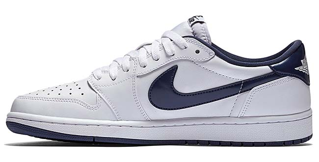 NIKE AIR JORDAN 1 RETRO LOW OG [WHITE / MIDNIGHT NAVY-SAIL] 705329-106