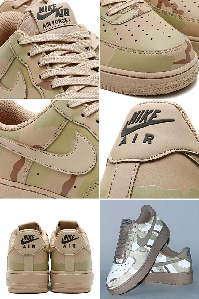 NIKE AIR FORCE 1 07 LV8 [SAND / SAND-BLACK] 718152-204