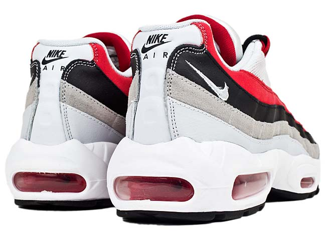 NIKE AIR MAX 95 ESSENTIAL [UNIVERSITY RED / WOLF GREY / BLACK / PURE PLATINU] 749766-601