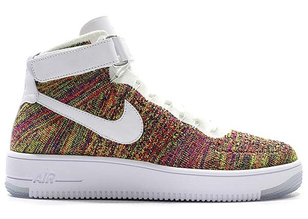 NIKE AIR FORCE 1 ULTRA FLYKNIT MID [VOLT / WHT-BRGHT CRMSN-CRT PRPL] 817420-700