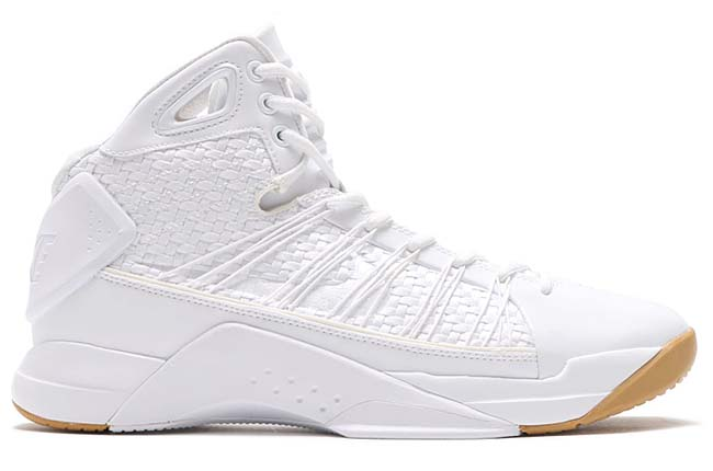 NIKE HYPERDUNK LUX [WHITE / WHITE-GUM LIGHT BROWN] 818137-100