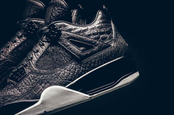 NIKE AIR JORDAN 4 RETRO PREMIUM PINNACLE [BLACK / BLACK-SAIL] 819139-010