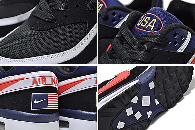 NIKE AIR MAX BW PREMIUM OLYMPIC [BLACK / CRIMSON / MIDNIGHT NAVY / WHITE] 819523-064
