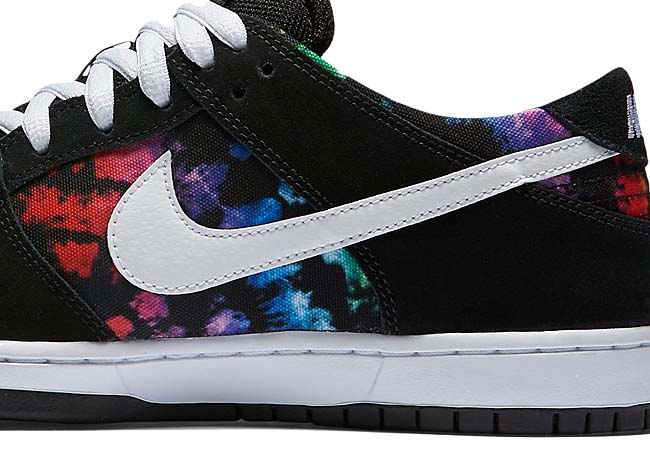 NIKE DUNK LOW PRO SB IW Tie-Dye [black / multi-color / black / white] 819674-019