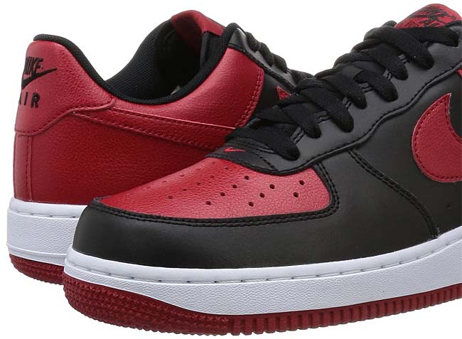 NIKE AIR FORCE 1 LOW [BLACK / WHITE / GYM RED] 820266-009