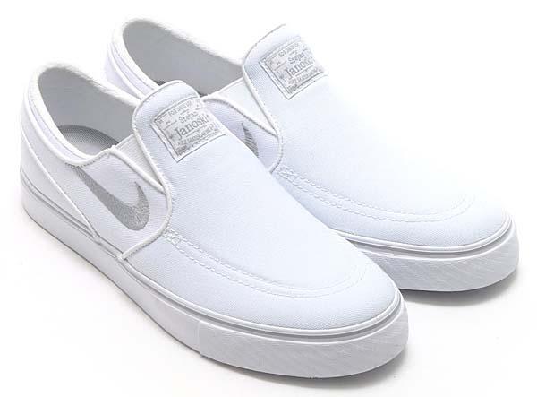 NIKE SB ZOOM STEFAN JANOSKI SLIP CNVS [WHITE / WOLF GREY-WHITE] 831749-100