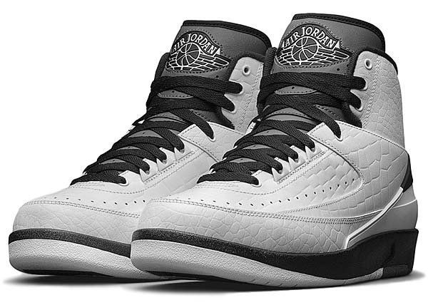 NIKE AIR JORDAN 2 RETRO WING IT [WHITE / BLACK-DARK GREY] 834272-103