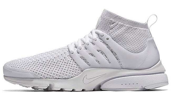NIKE AIR PRESTO FLYKNIT ULTRA [WHITE / WHITE-WHITE-TOTAL CRIMSON-WOLF GREY] 835570-100